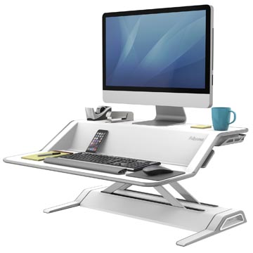 Fellowes Lotus plate-forme de travail assis-debout, blanc
