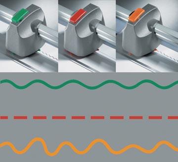 Dahle tête de coupes pour cisailles, modèle 500, 507 et 508, set de 3 pièces (perforation, zigzag et cart