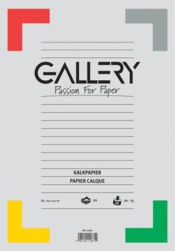 Gallery papier calque, ft 29,7 x 42 cm (A3), bloc de 20 feuilles