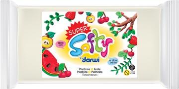 Darwi pâte à modeler Super Softy 350 g, blanc