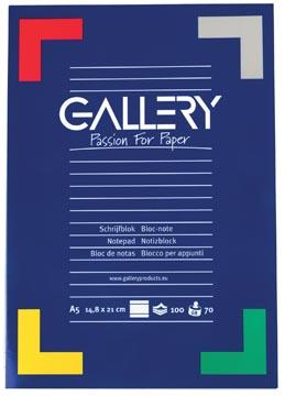 Gallery bloc de papier à lettres, ft A5, 100 feuilles, ligné