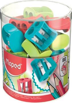 Maped taille-crayon Vivo 2 trous, en couleurs assorties, boîte de 30 pièces