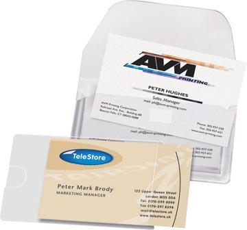 3L Porte-cartes de visite ft 95 x 60 mm, ouvert du côté long (pochette de 10 pièces)