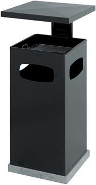 Eko poubelle et cendrier avec un toit détachable et un bac intérieur