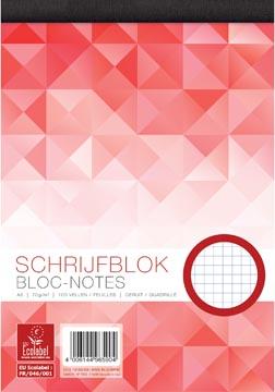 Work bloc-notes, ft A5, 70 g/m², 100 feuilles, quadrillé 5 mm