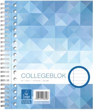 Bloc collège WORK, ft A5, 17 trous, ligné, 160 pages