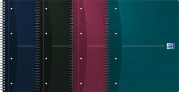 Oxford Essentials cahier spiralé, ft A4+, 180 feuilles, ligné, perforation 4 trous