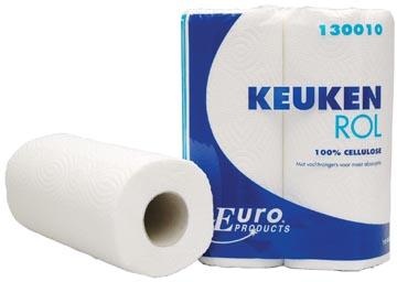 Europroducts rouleau d'essuie-touts, 2 plis, 50 feuilles, paquet de 2 pièces