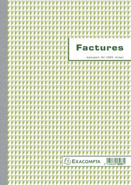 Exacompta factures, ft 29,7 x 21 cm, dupli, Français