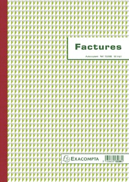 Exacompta factures, ft 29,7 x 21 cm, tripli, Français