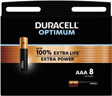 Duracell pile Optimum, AAA, blister de 8 pièces