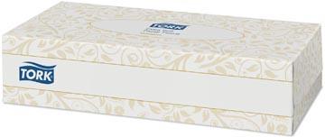 Tork lingette pour le visage, 2 plis, 100 lingettes par boîte