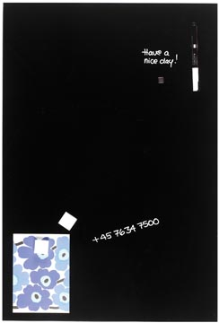 Naga Tableau en verre magnétique, noir