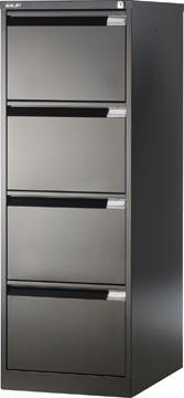 Bisley classeur dossiers, ft 132,1 x 47 x 62,2 mm (h x l x p), 4 tiroirs, noir