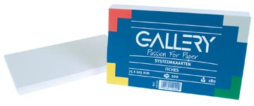 Gallery fiches blanches ft 7,5 x 12,5 cm, uni, paquet de 100 pièces