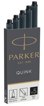 Parker Quink cartouches d'encre, noir, boîte de 5 pièces