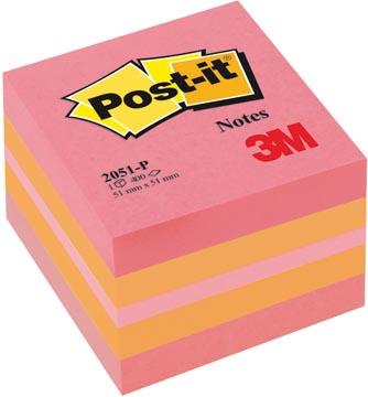 Post-it Notes, ft 51 x 51 mm, couleurs assorties, bloc de 400 feuilles