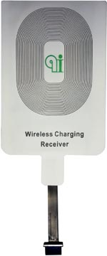 Adaptateur pour charger son smartphone sans cable avec lampe de bureau Qi, pour Android