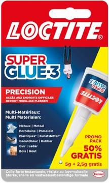Loctite colle instantanée Super Glue Precision, 5 g + 50 % gratuit, sous blister