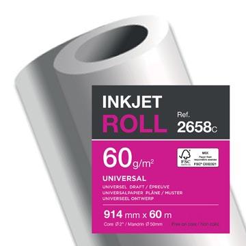 Clairefontaine papier plotter ft 914 mm x 60 m, 60 g