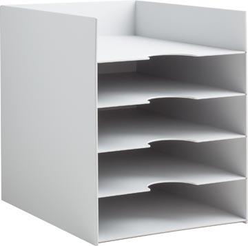 Paperflow bloc à cases fixes, 5 cases, largeur 25,8 cm