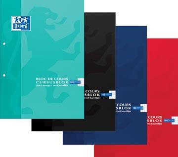 Oxford SCHOOL bloc de cours, couleurs assorties, ft A4, 100 feuilles, quadrillé 5 mm