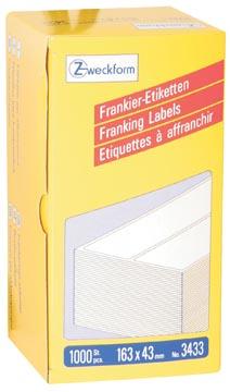 Avery Zweckform étiquettes d'affranchissement ft 163 x 43 mm, boîte de 1000 pièces