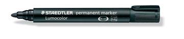 Staedtler marqueur permanent Lumocolor, noir, largeur de trait: 2 mm, pointe ronde