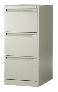 Bisley classeur dossiers, ft 101,6 x 47 x 62,2 mm (h x l x p), 3 tiroirs, gris