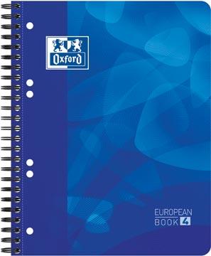 Oxford School Projectbook cahier à reliure, ft A5+, 6 trous, ligné, bleu