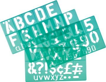 Linex trace-lettres de 50 mm, set de 4 pièces