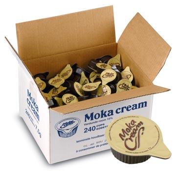 Lait concentré 7,5 ml, Moka cream, paquet de 240 pièces