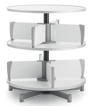 Moll colonne rotative Multifile, 2 étages, hauteur 87 cm, jusq'à 48 classeurs, blanc