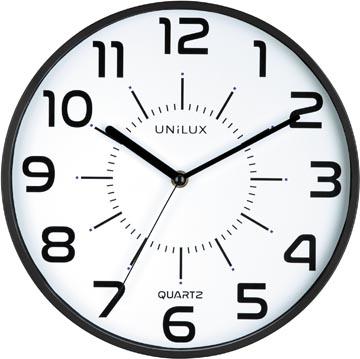 Unilux horloge Pop, diamètre 28 cm, noir