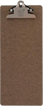 Securit Porte-addition Clipboard, brun avec pince en acier inoxydable, 27,8 x 11,4 cm