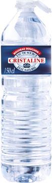 Cristaline eau, bouteille de 1,5 litre, paquet de 6 pièces