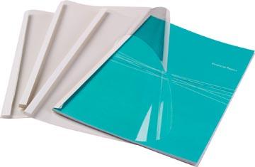 Fellowes couvertures thermique ft A4, 3 mm, paquet de 100 pièces, brillant