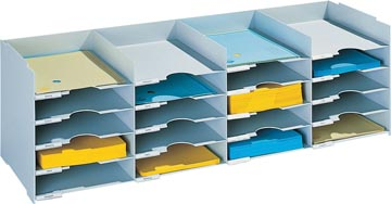 Paperflow bloc à cases fixes, 20 cases, largeur 101 cm