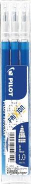 Pilot recharge pour FriXion Ball et Frixion Ball Clicker, pointe large, bleu, étui de 3 pièces