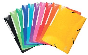 Exacompta Iderama chemise à rabats avec 3 rabats, avec étiquette, couleurs assorties