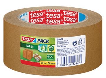 Tesa ruban adhésif d'emballage Paper, ft 50 mm x 50 m, en papier, brun