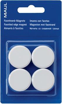 Maul aimant MAULsolid, diamètre 32 mm, blanc, blister de 4 pièces