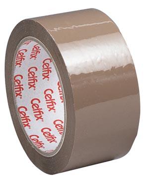 Celfix ruban adhésif d'emballage, ft 50 mm x 66 m, PP, brun