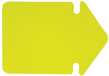 Folia étiquettes en carton fluo, 24 cm, jaune fluo (flèches)