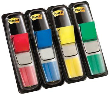 Post-it Notes small, 4 x 35 onglets, rouge, bleu, jaune et vert