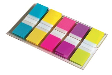 Post-it Index Small, ft 12 x 43 mm, blister avec 5 couleurs, 20 cavaliers par couleur