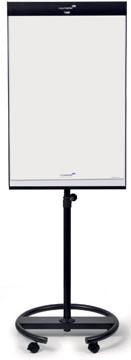 Legamaster tableau de conférence magnétique Universal avec pied rond, ft 105 x 68 cm, acier lacqué