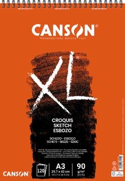 Canson album de croquis XL ft 29,7 x 42 cm (A3), bloc de 120 feuilles