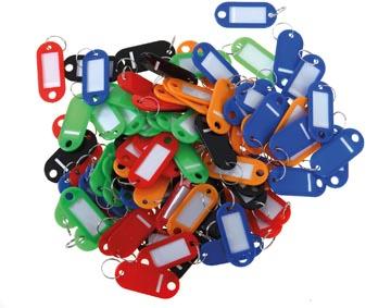 Porte-clés couleurs assorties x100