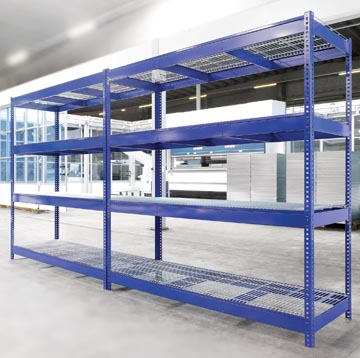 Avasco étagère industrie, ft 180 x 180 x 60 cm, 4 tablettes, en métal